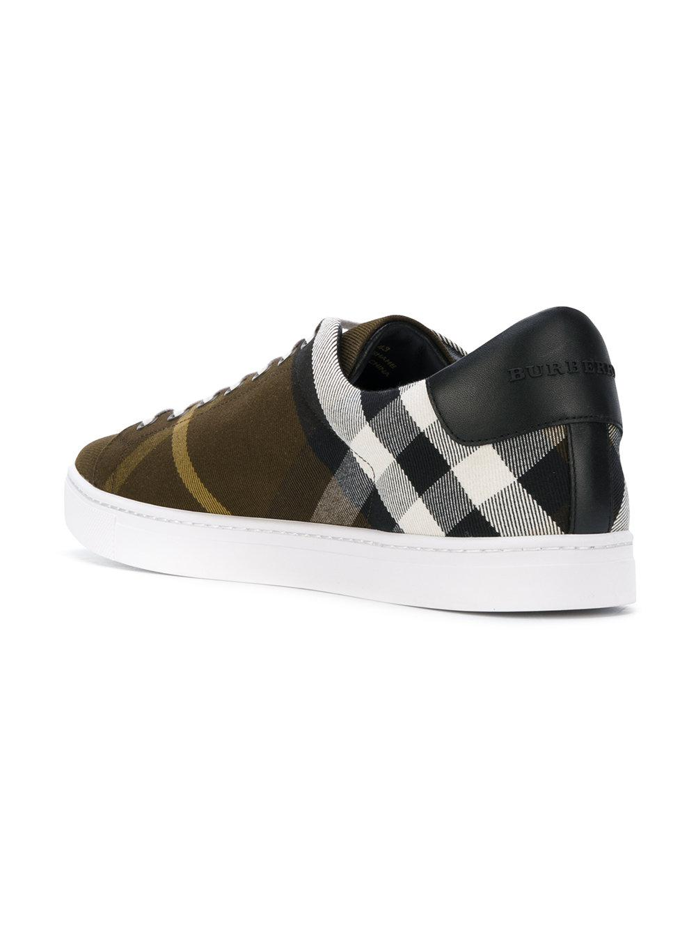 checked sneakers - Green Burberry reQfYDE