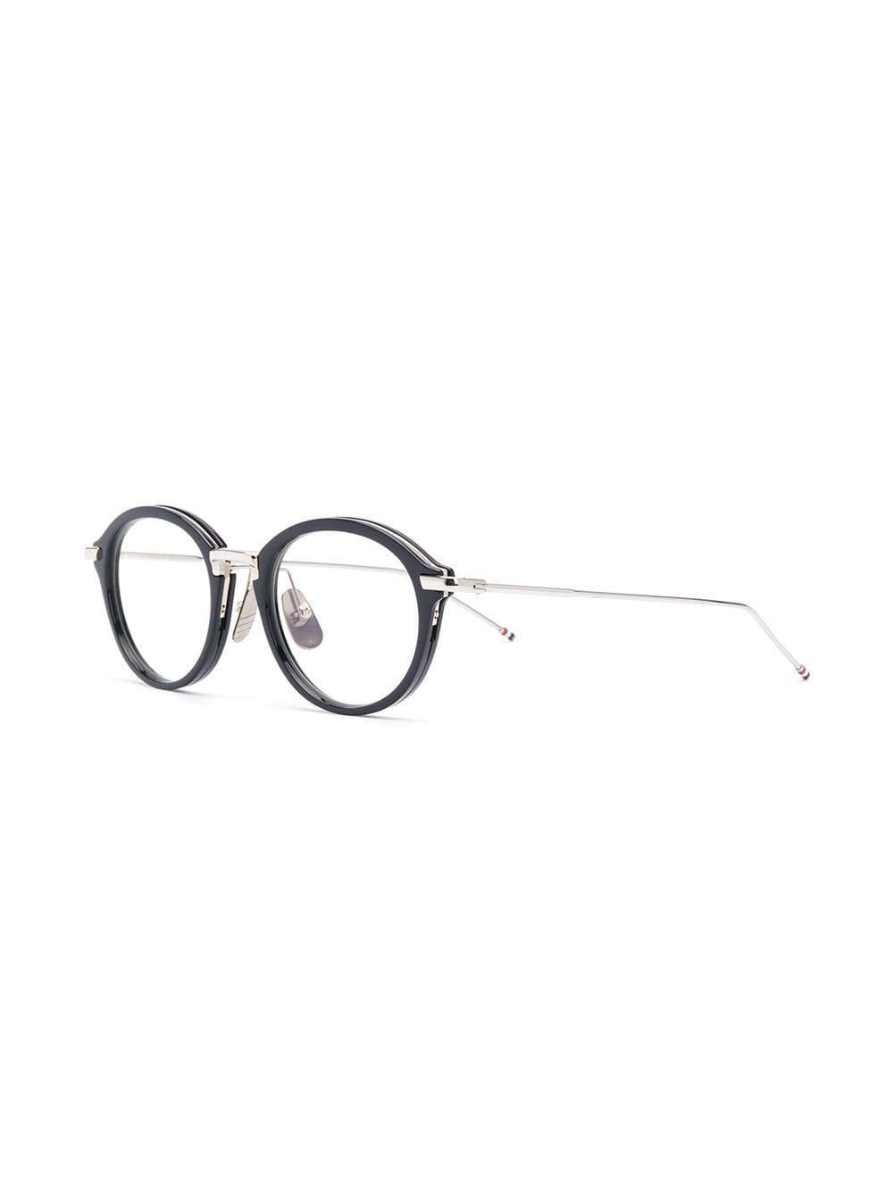 864fcbabeedf Thom Browne - Blue Round Frame Glasses - Lyst. View fullscreen