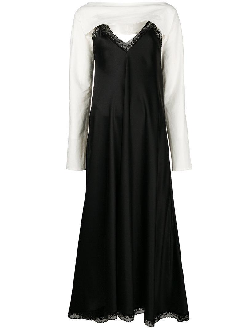 lace trim dress - White Maison Martin Margiela 7F9kAgT