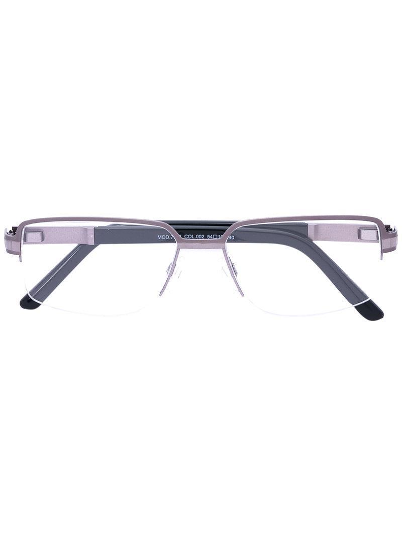 0272a806552 Lyst - Cazal Rectangle Frame Glasses in Black for Men