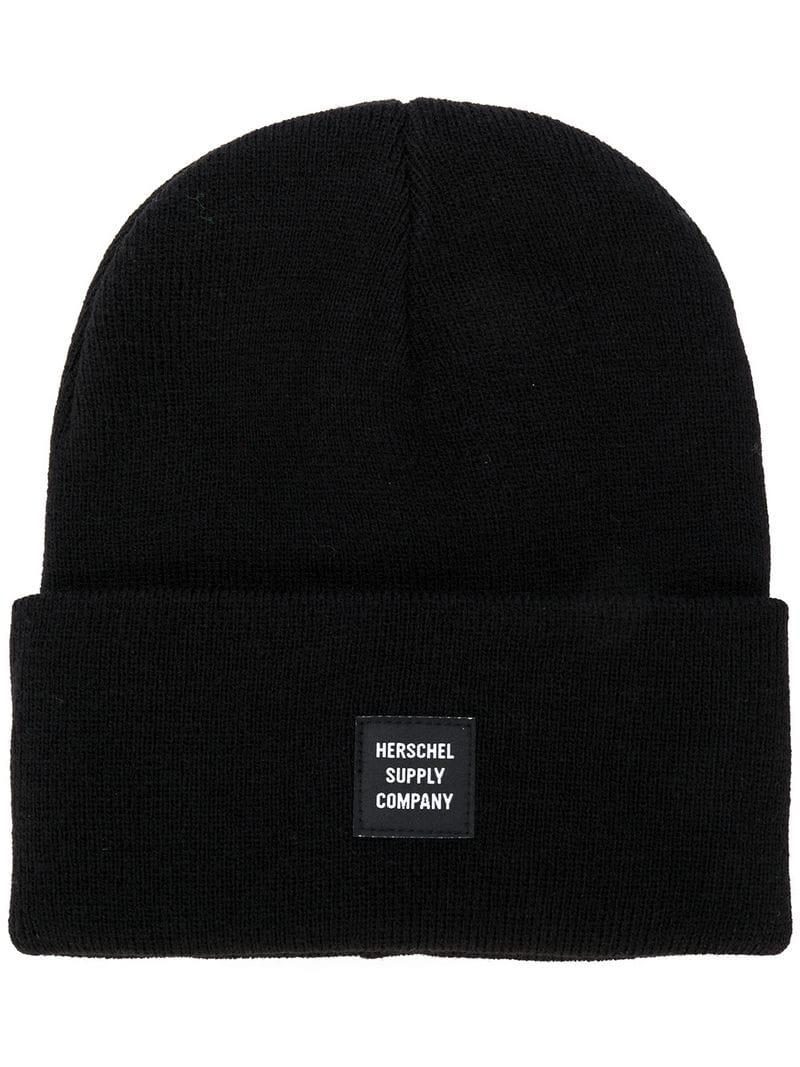 Herschel Supply Co. Rolled Beanie in Black for Men - Lyst 2eae30671c88