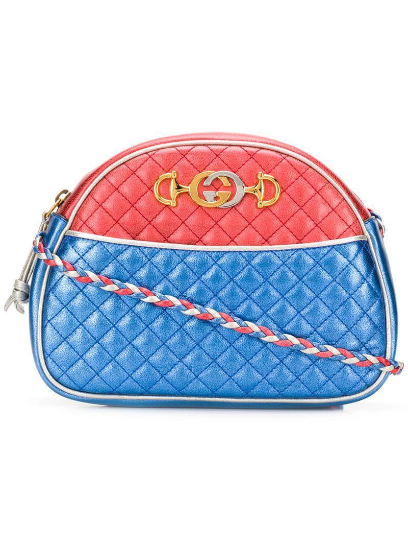 Lyst - Gucci Laminated Leather Cross-body Bag in Metallic de6dfe23d000f