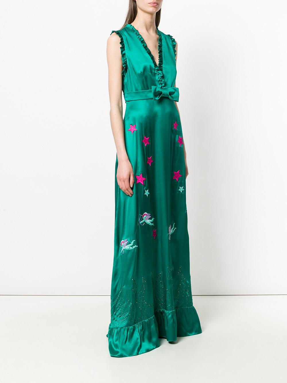 Manchester Great Sale Cheap Price Shopping Online Outlet Sale jewelled scalloped dress - Green John Richmond NRjyT0NQf2