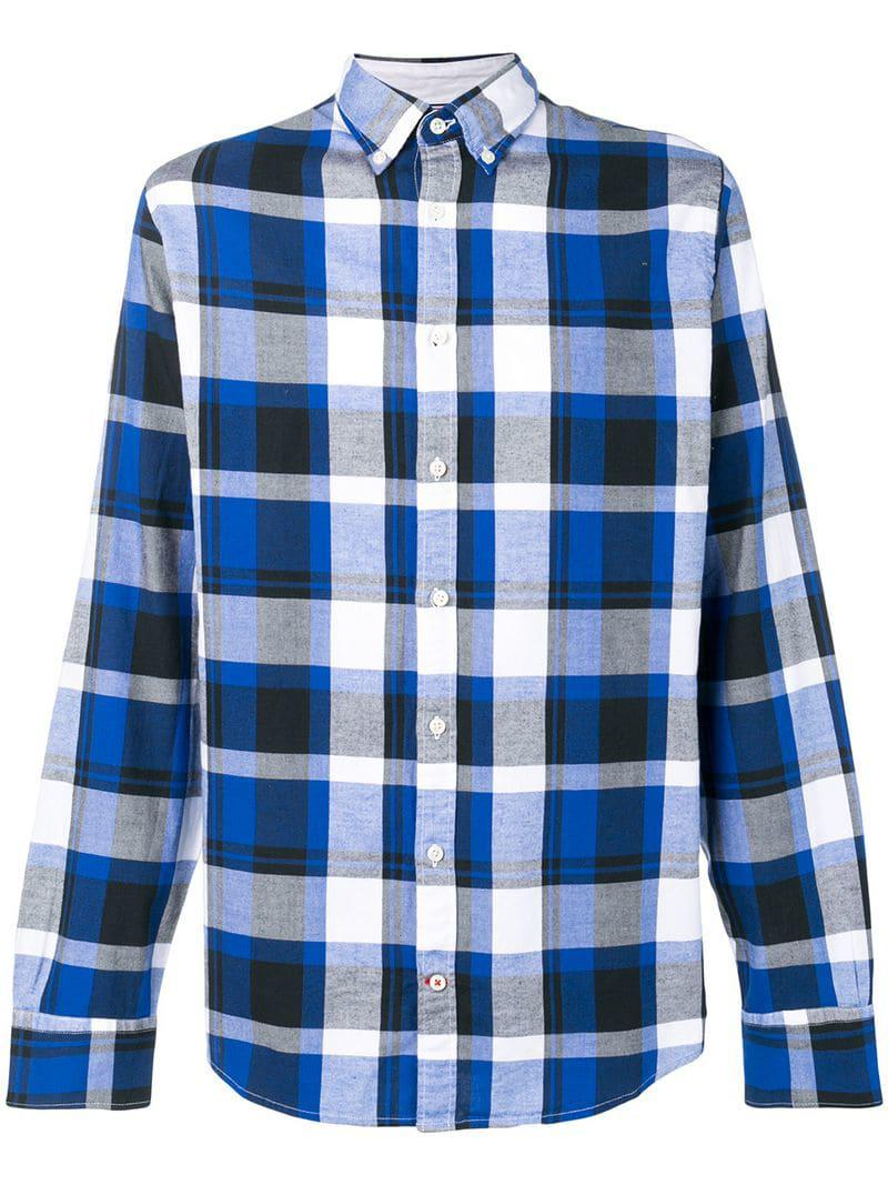 e843837a Lyst - Tommy Hilfiger Plaid Button Down Shirt in Blue for Men