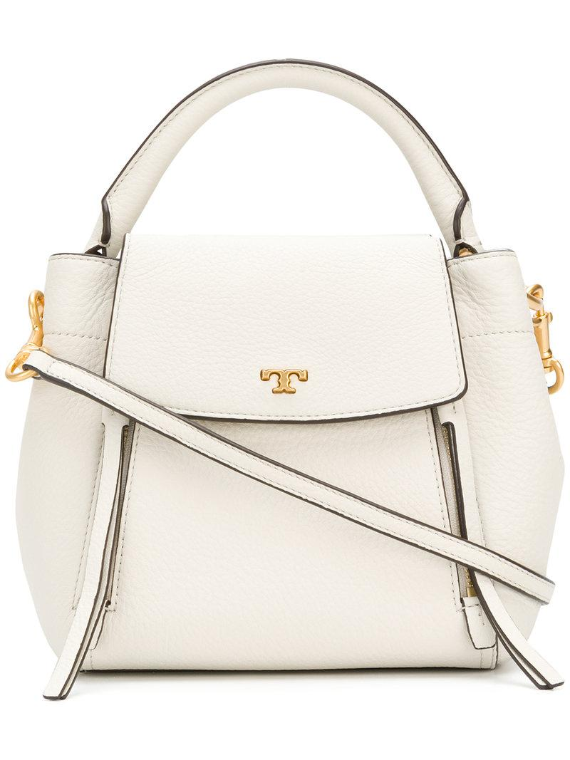 f80831b5b841 Lyst - Tory Burch Half-moon Cross-body Bag in White