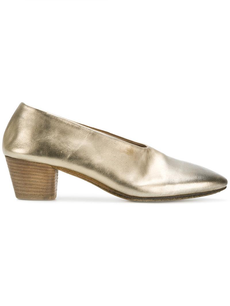 Marsèll lace-up block heel sandals - Metallic farfetch bianco Comprar Barato Manchester Gran Venta OpB9V