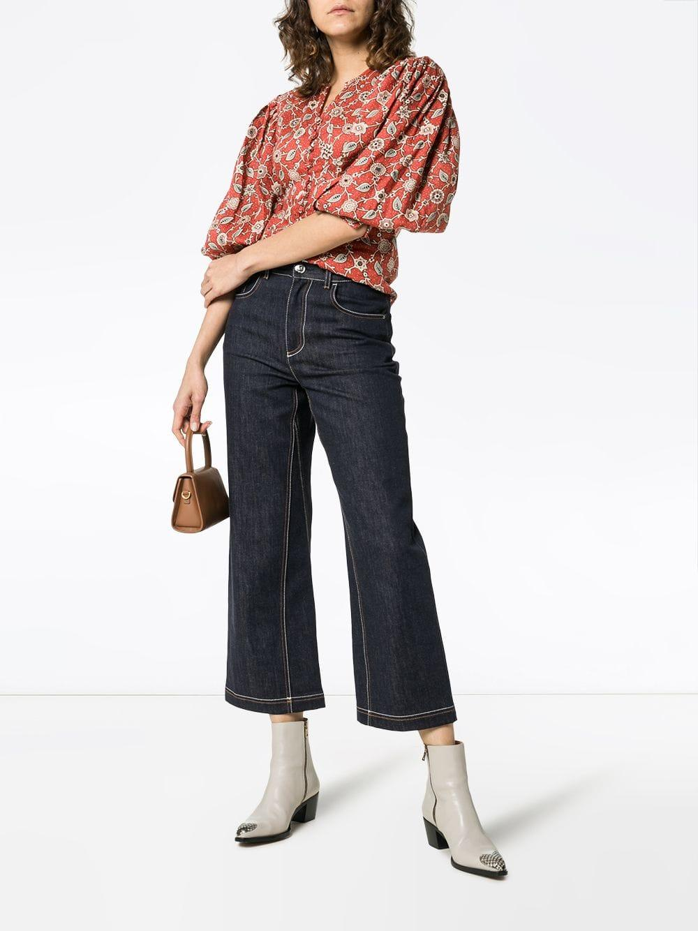 103fd55c46e03 Étoile Isabel Marant Paisley And Floral Print Linen Blouse in Red - Lyst