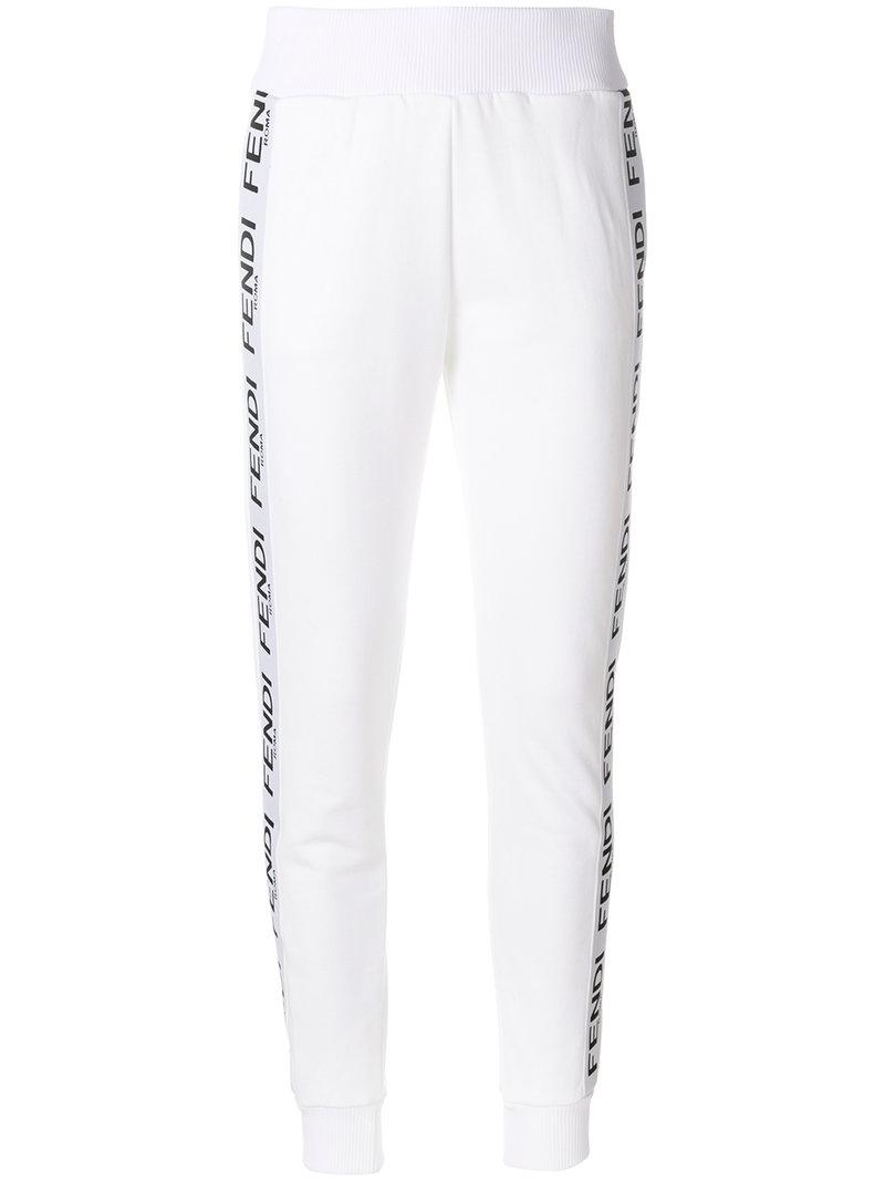 logo panel track pants - White Fendi Cheap Price Outlet Cheap Clearance 5Hs0q