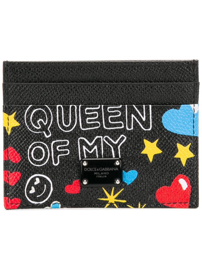 Dolce & Gabbana Mural print card holder mVB8OS