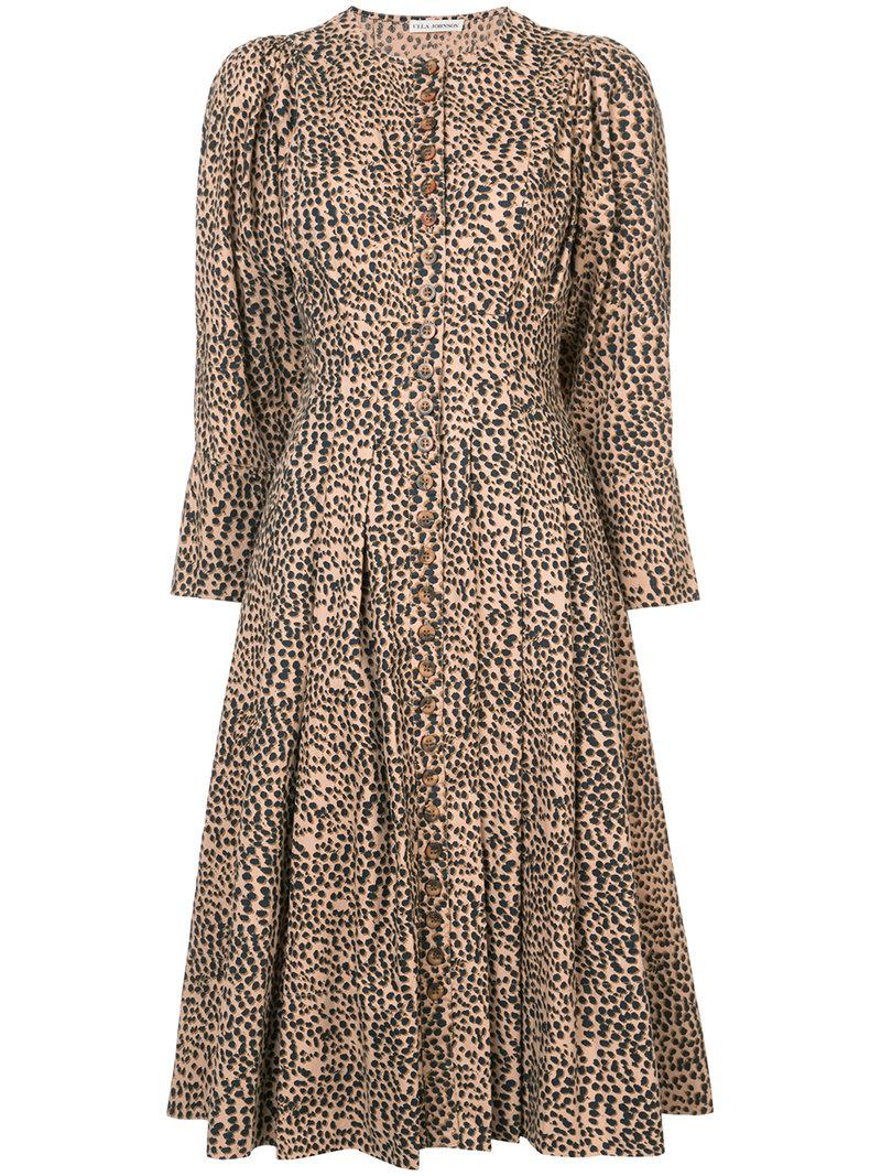 812c426bb8a3 Lyst - Ulla Johnson Bernadette Cheetah Dress in Brown
