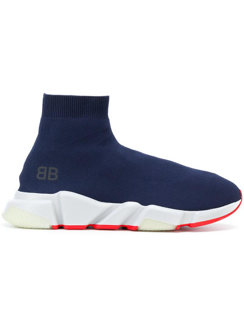 75f7646979d90 Balenciaga Speed Hi-top Sneakers in Blue for Men - Save 22% - Lyst