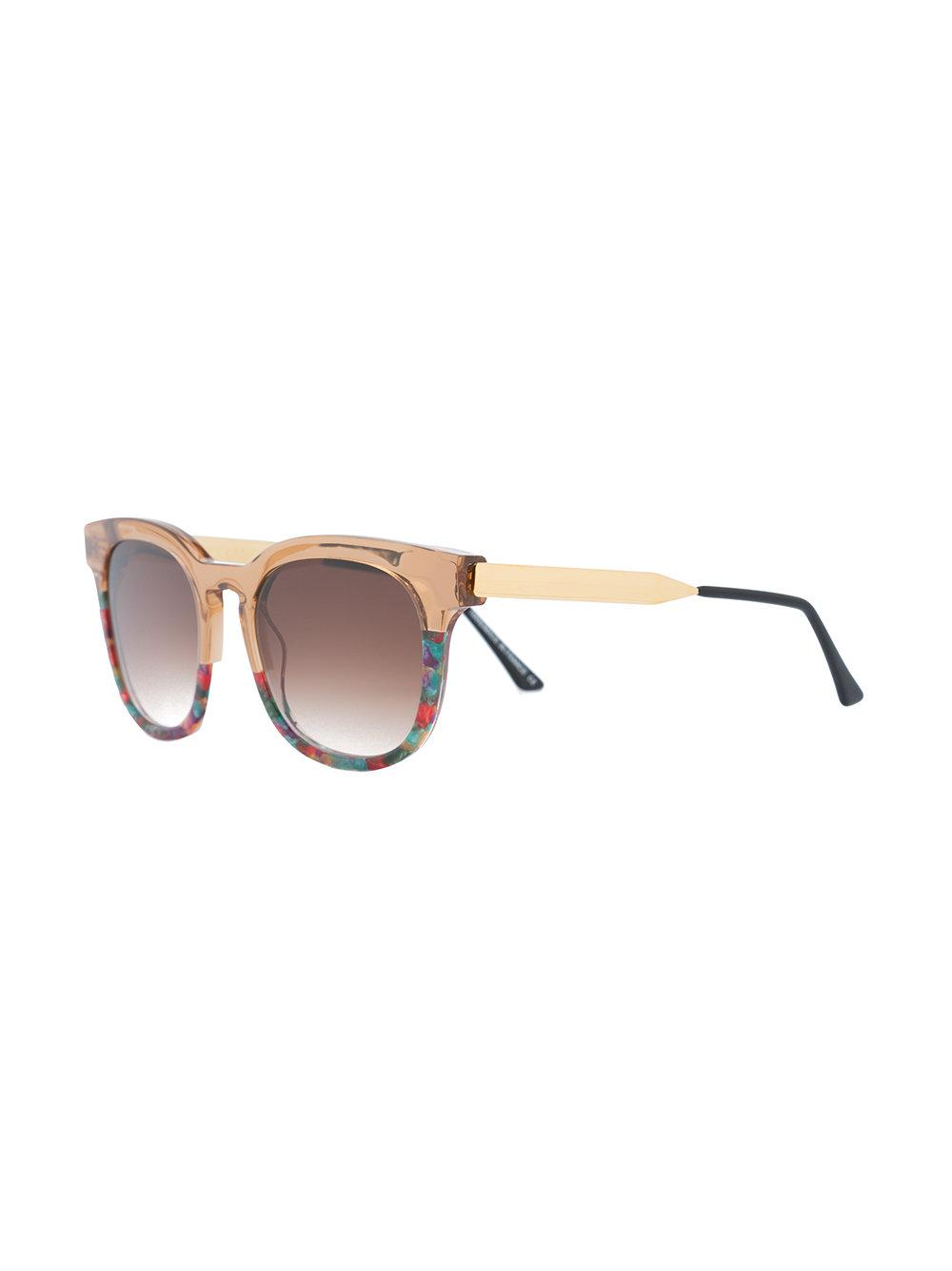 7a692ac5227 Thierry Lasry Printed Square Sunglasses in Metallic - Lyst