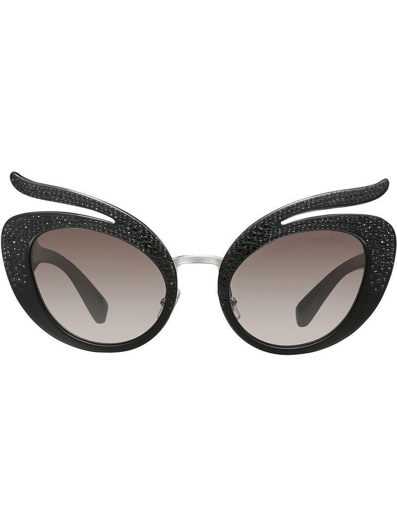 Lyst - Gafas de sol Folie Miu Miu de color Gris 6a3eaee874