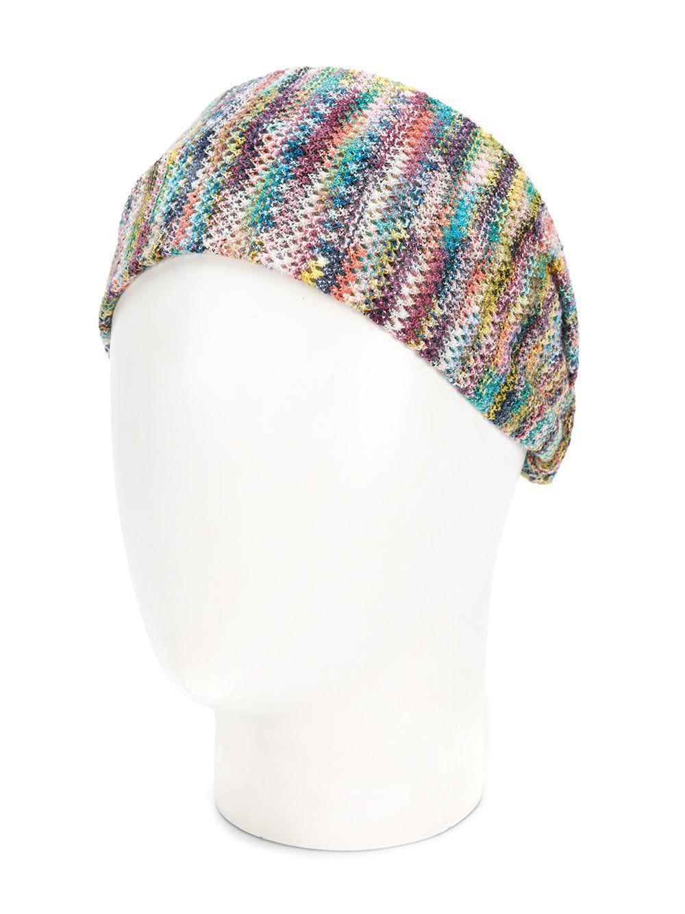 e96f63f6a0d Missoni - Blue Knit Headband - Lyst. View fullscreen