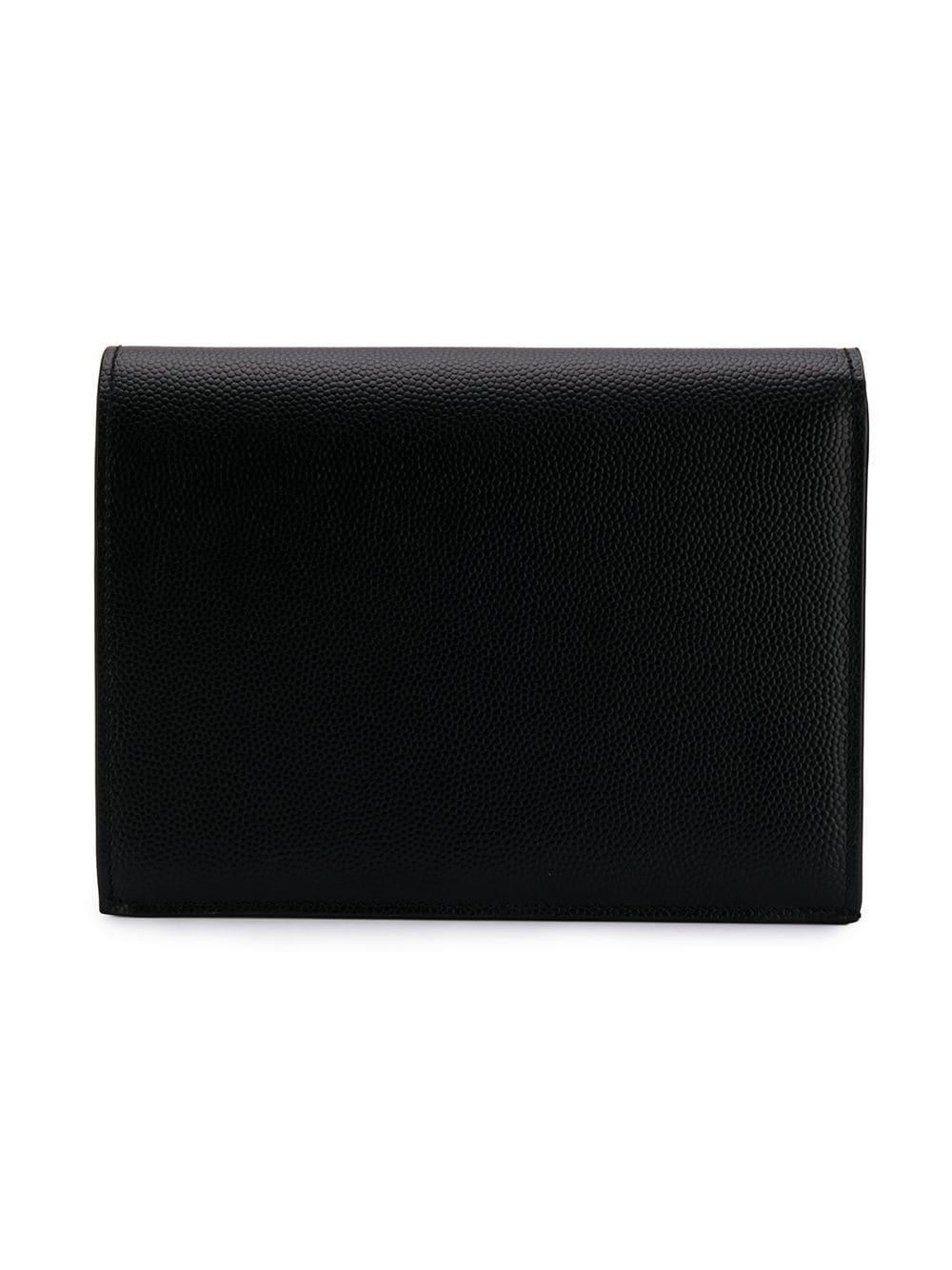 df3ed11b9c6 Lyst - Saint Laurent Billfold Logo Wallet in Black for Men