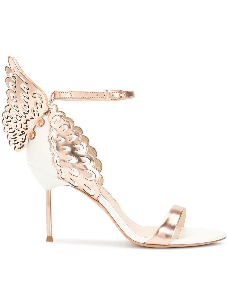 494959f3b02 Lyst - Sophia Webster Butterfly Heel Detail Sandals in Metallic