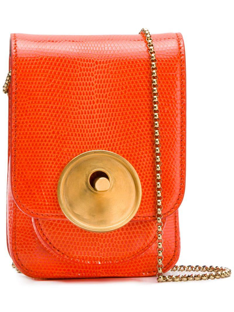 69cdc841edb Marni Micro Crossbody in Orange - Lyst