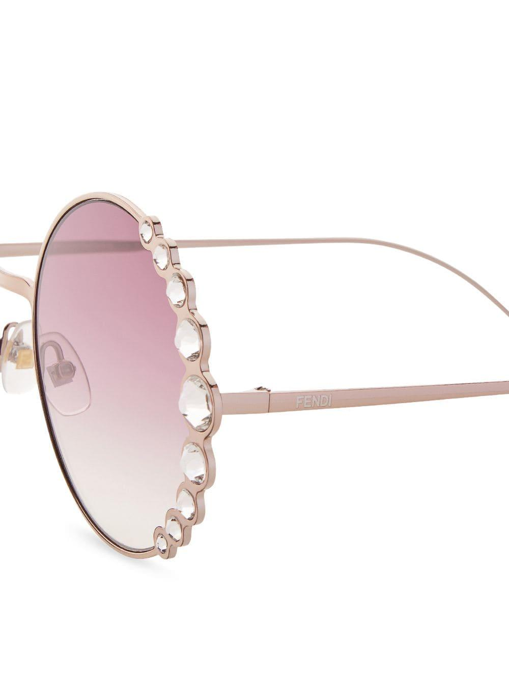 c322b22d7e Fendi  ribbons   Crystals  Sunglasses in Pink - Save 12% - Lyst