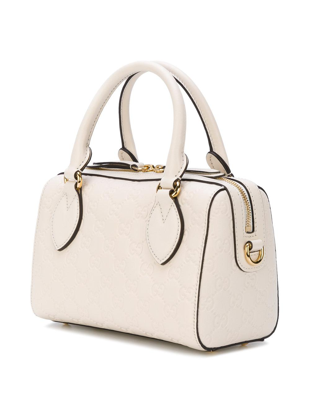 ea0d09c0c7f Lyst - Gucci Small Soft Signature Top Handle Bag in White