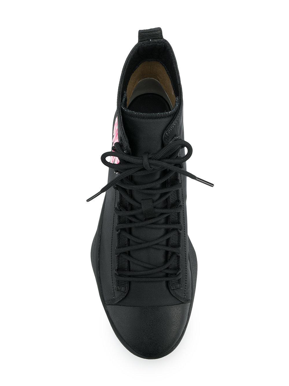 6aab6365931 Lyst - Y-3 X James Harden Floral Hi-top Sneakers in Black