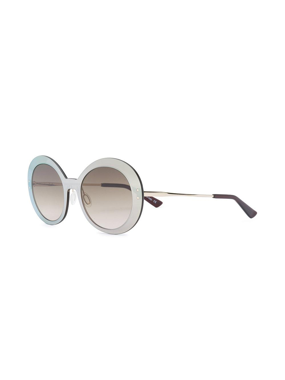 38fc39f698 Christian Roth Round Frames Sunglasses in Brown - Lyst