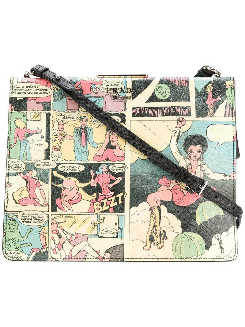 6ffd0dd4099b53 Prada Comic Book Shoulder Bag - Lyst
