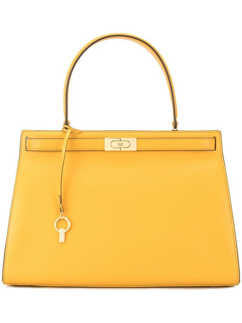 a5e3d7800420 Lyst - Tory Burch Lee Radziwill Satchel in Yellow