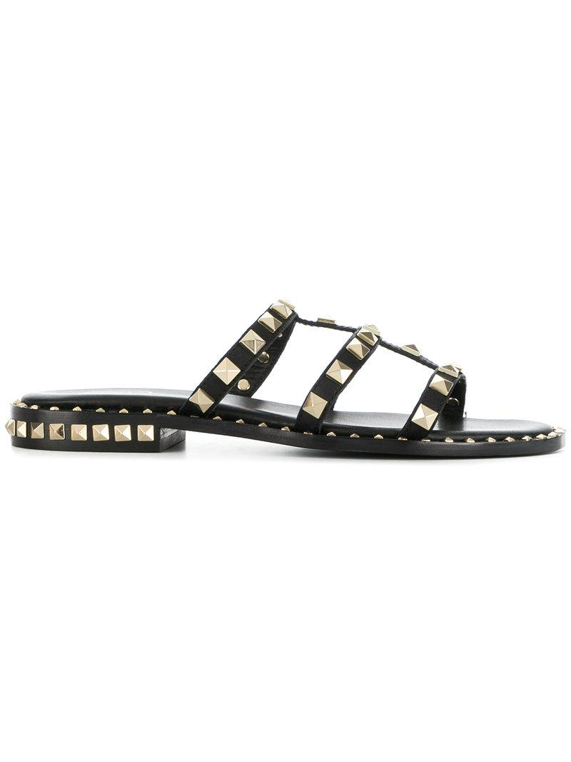 f9ddfbc19 Ash Studded Sandals in Black - Lyst