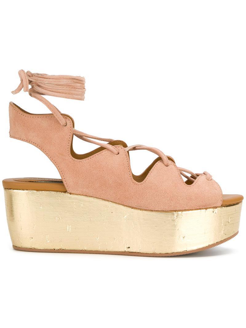 Fashion Style Cheap Online Buy Cheap In China Chloé Liana wedge sandals Cheap Sale 2018 Enjoy Online EA4a2IKek