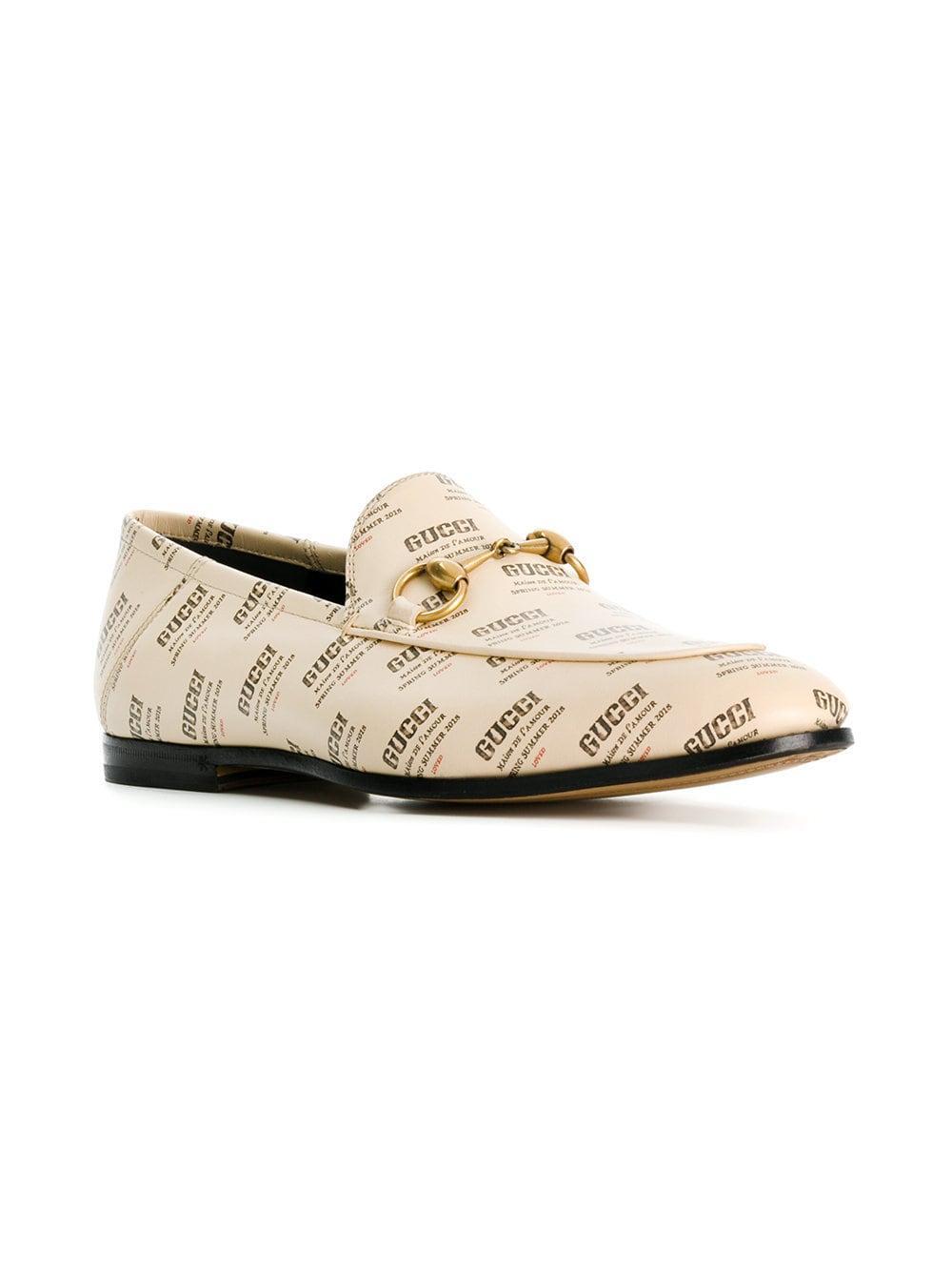 2e9675e71de Gucci Stamp Loafers for Men - Lyst
