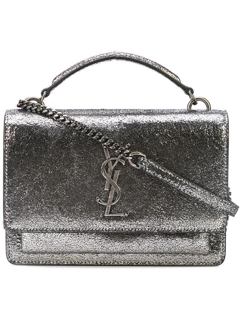 Saint Laurent Sunset Shoulder Bag in Gray - Lyst d74ad35110763