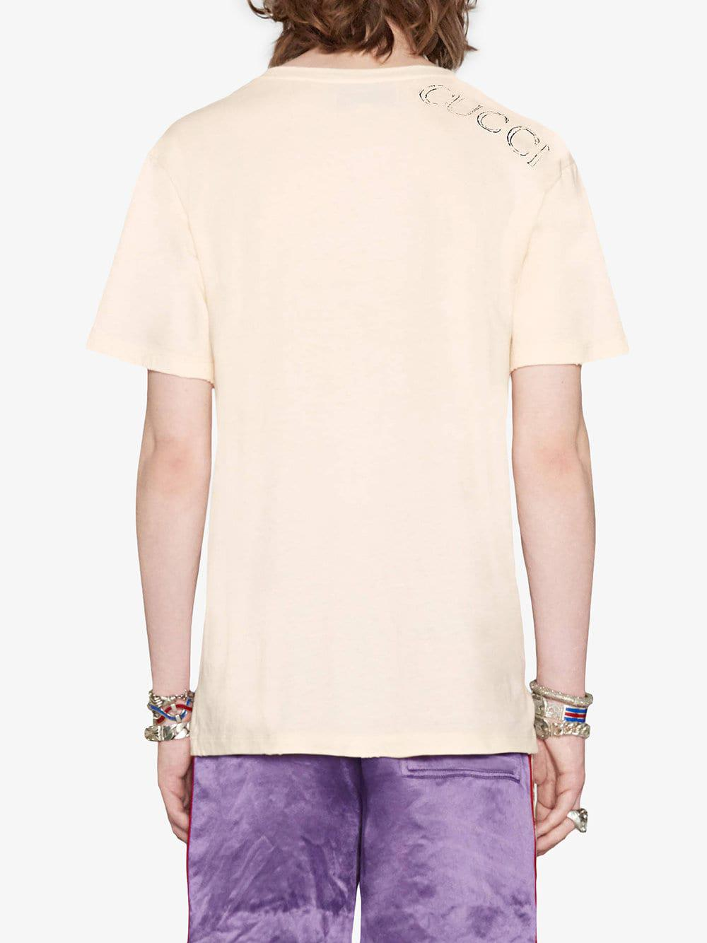 3a14955dd48 Gucci - Multicolor Stamp Print T-shirt for Men - Lyst. View fullscreen