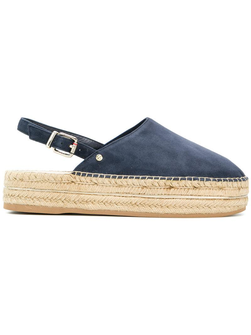 e3826bb07328 Tommy Hilfiger Slingback Espadrilles in Blue - Lyst
