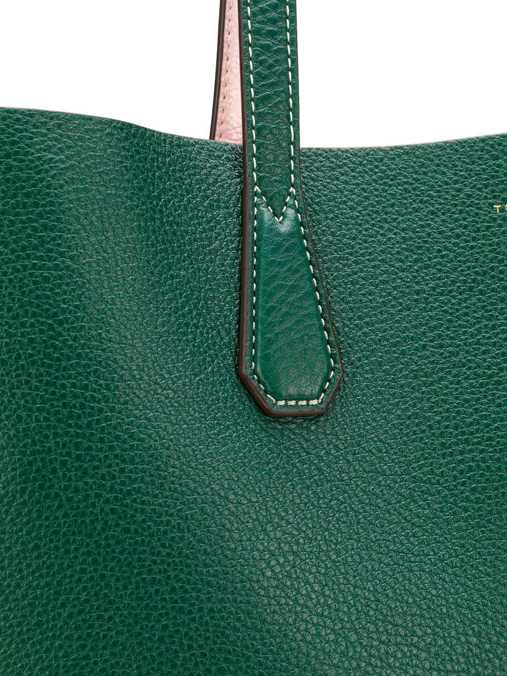 cfe51840cf1a Lyst - Tory Burch Perry Reversible Tote Bag in Green