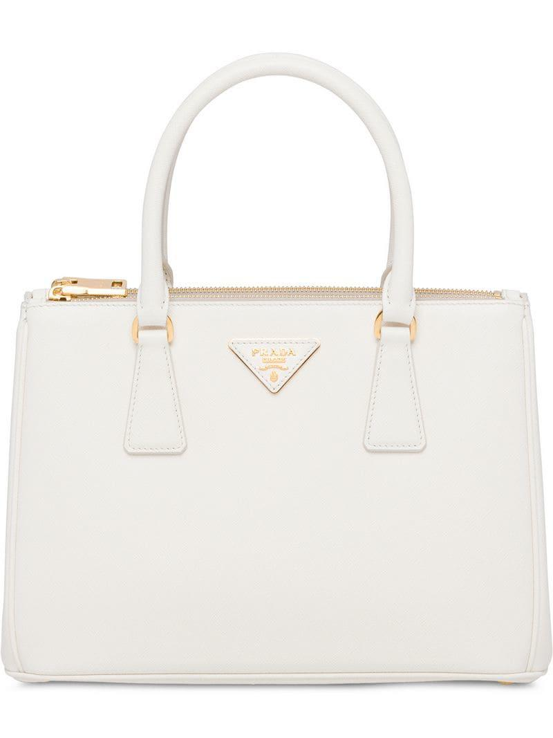 f8bccf0608 Lyst - Prada Galleria Bag in White