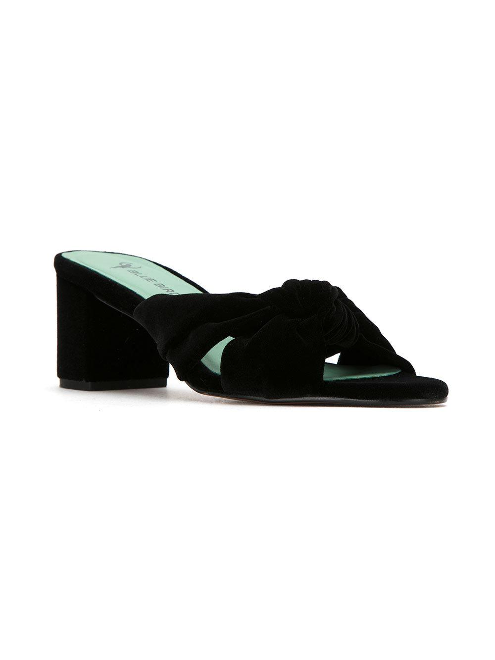 Blue Bird Shoes velvet Nó mules - Black farfetch neri Velluto
