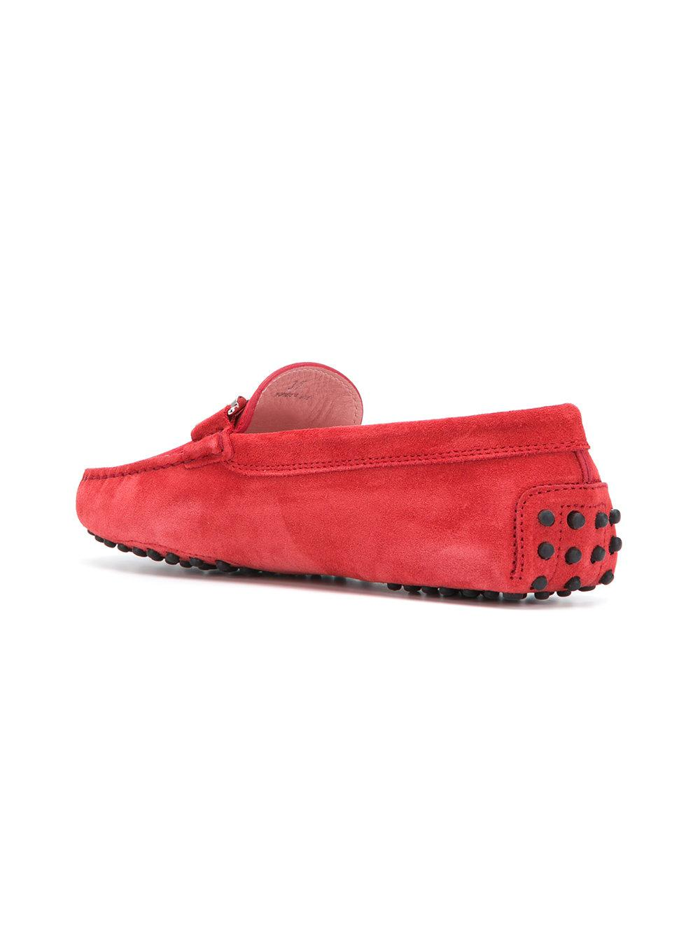 e20718fb7e6 Tod S Double T Loafers in Red - Lyst