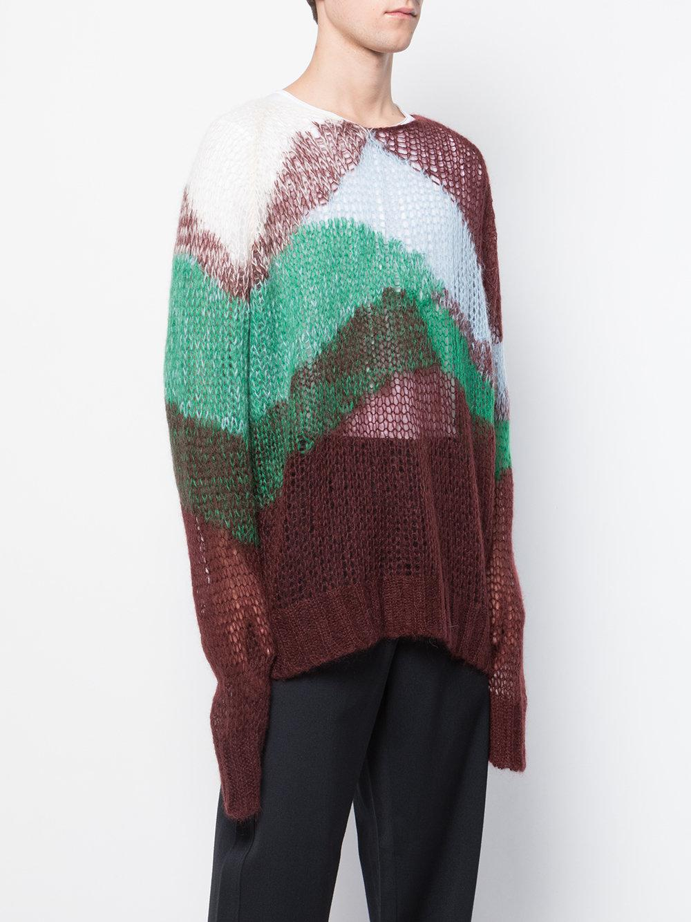 Block Turtleneck Sander Jil Colour Multicolore Jumper wRfCcgqEx