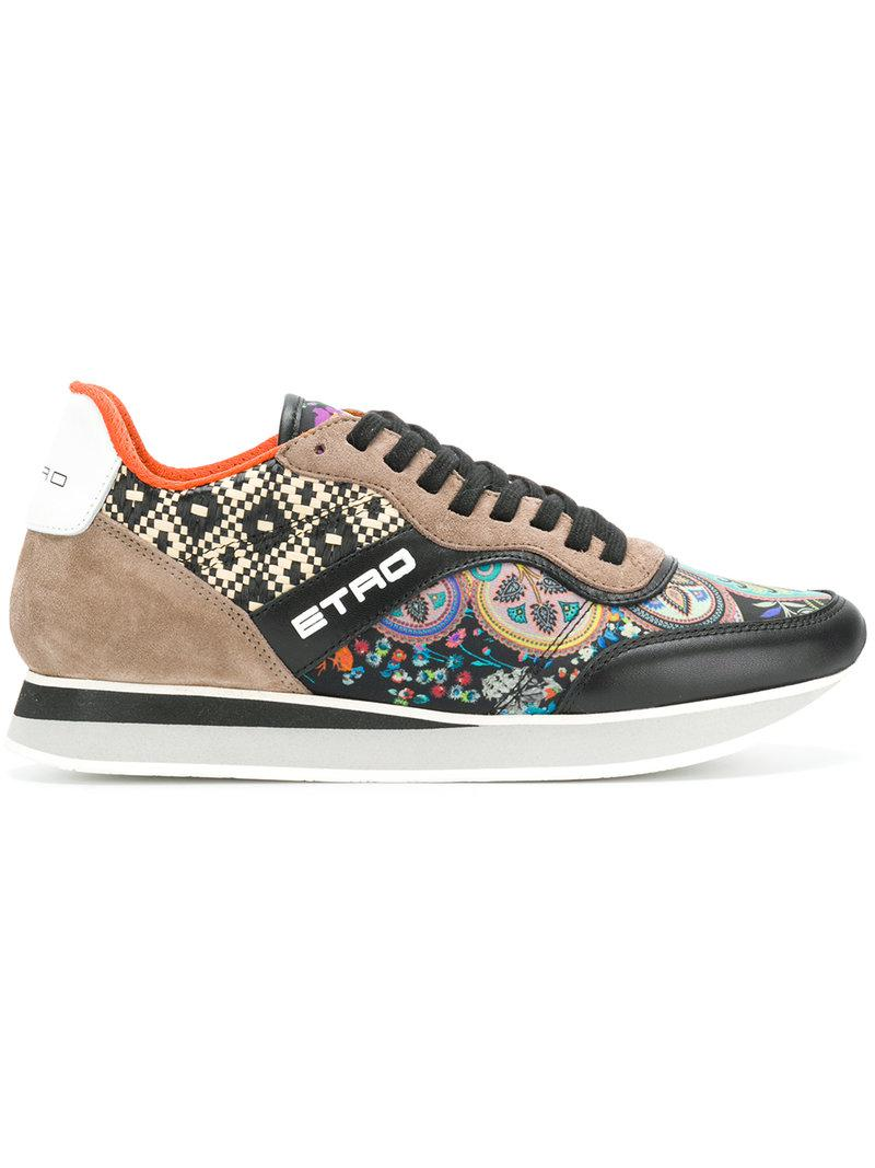 Quality Free Shipping For Sale Clearance Countdown Package colour-block floral sneakers - Multicolour Etro Buy Cheap 100% Authentic Amazing Price Cheap Price Cheap Sale Shopping Online 218kcobX