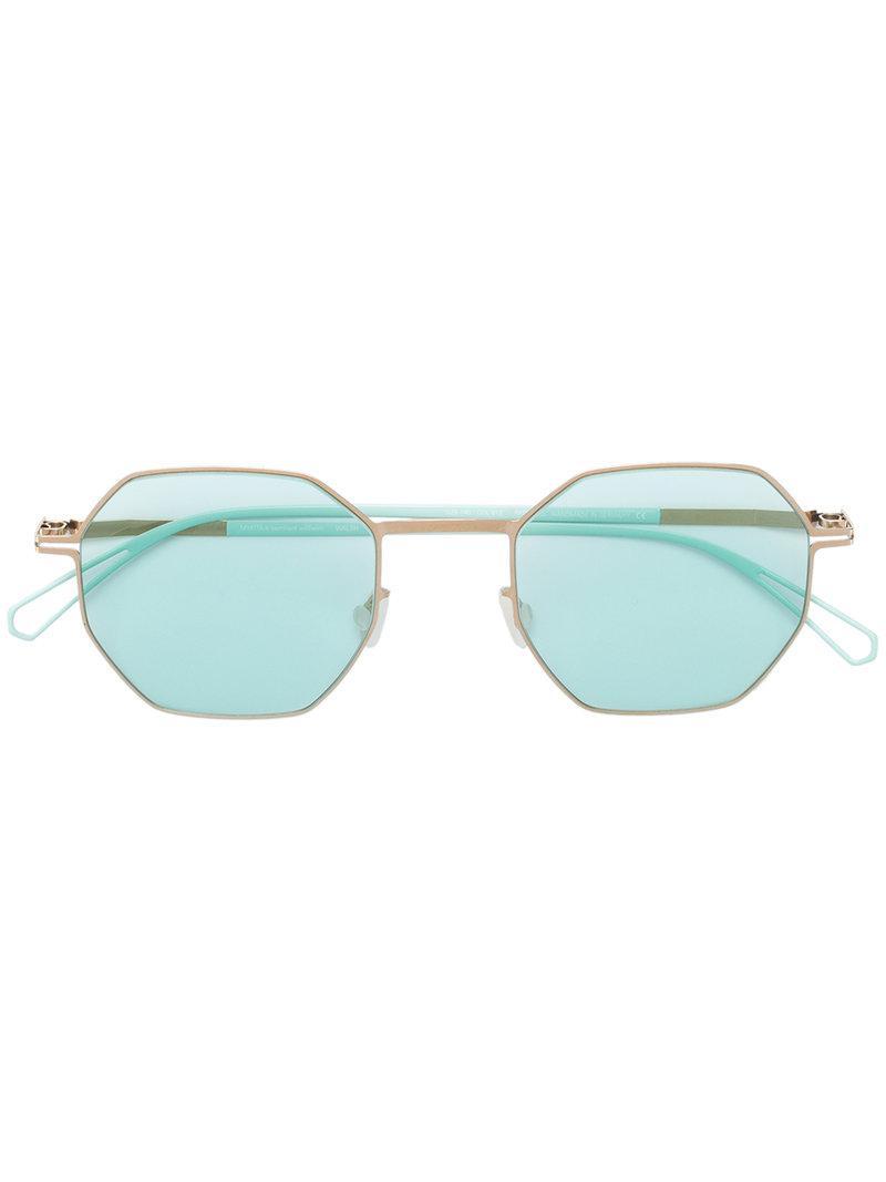 129e015cc7 mykita-green-Hexagonal-Shaped-Sunglasses.jpeg