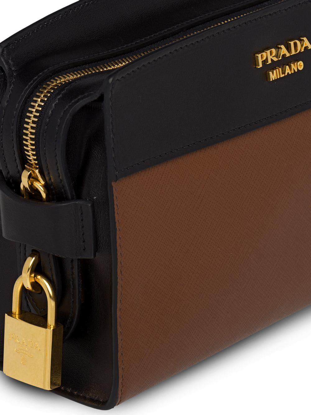 8994267a17091 Lyst - Prada Esplanade Shoulder Bag in Brown
