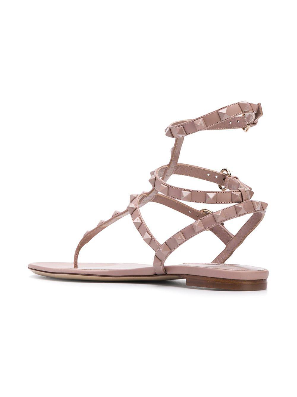 f0fcb725d62a Valentino - Multicolor Garavani Rockstud Sandals - Lyst. View fullscreen