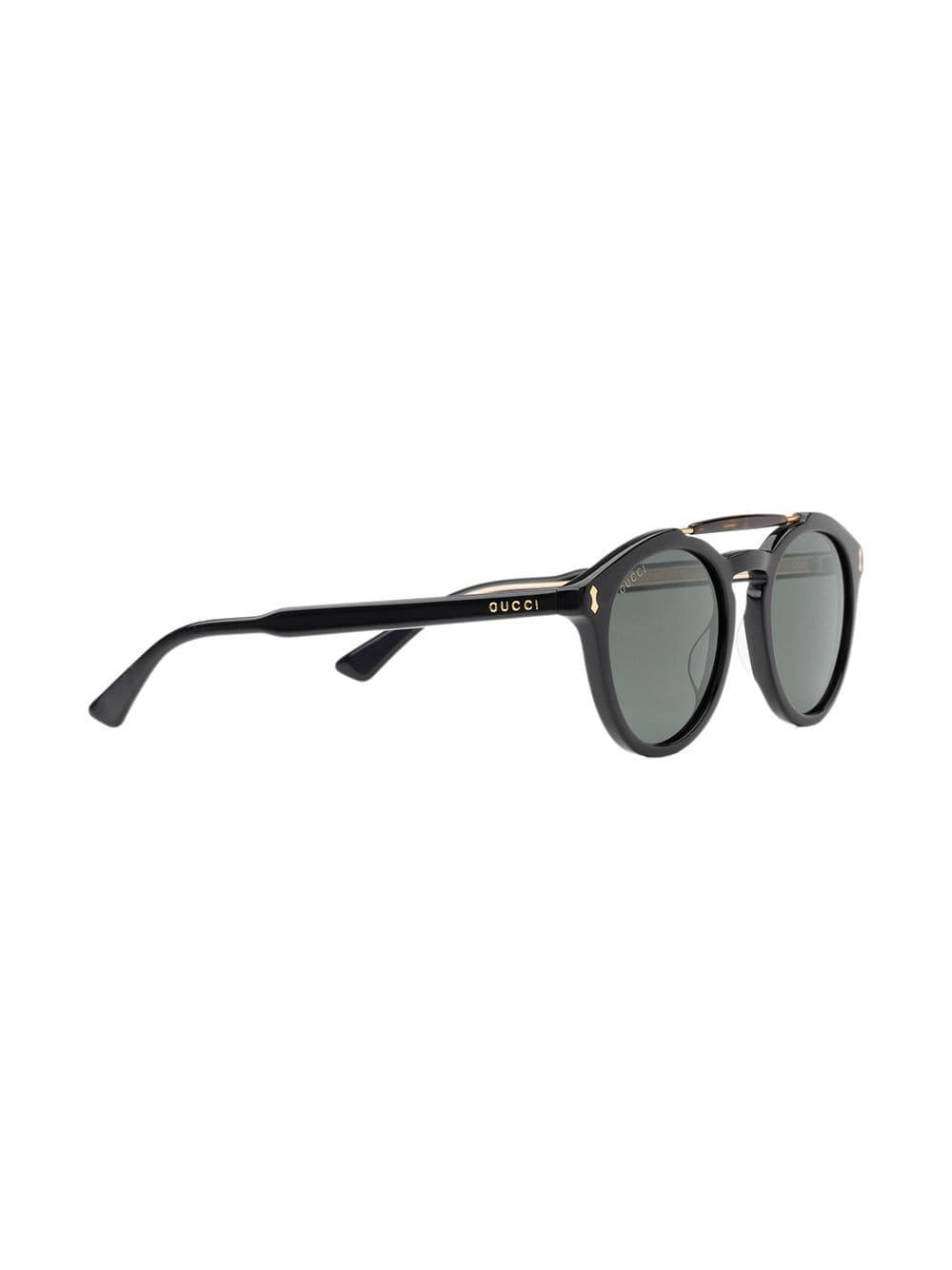 6df6fbbca931d Lyst - Gucci Round-frame Acetate Sunglasses in Black for Men