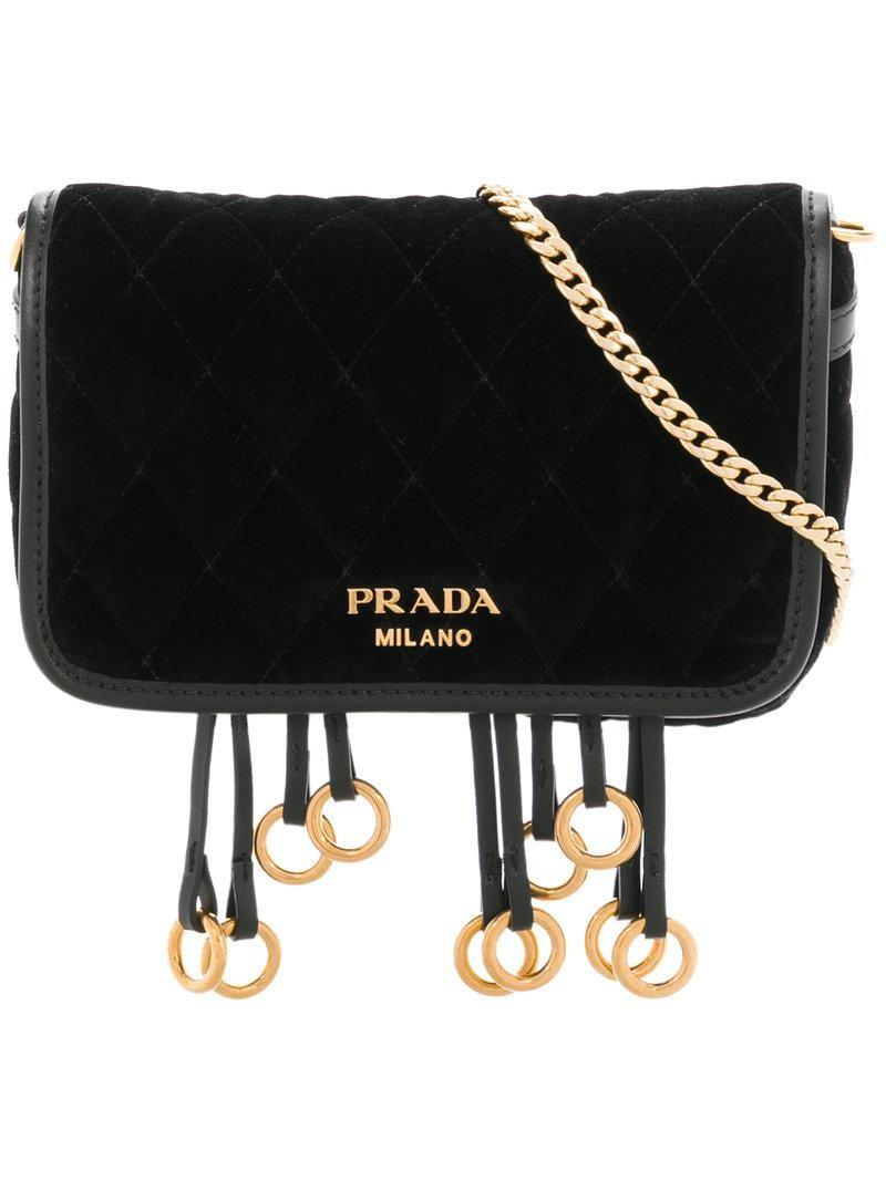 7f392374d6f36 Lyst - Prada Corsaire Convertible Belt Bag in Black