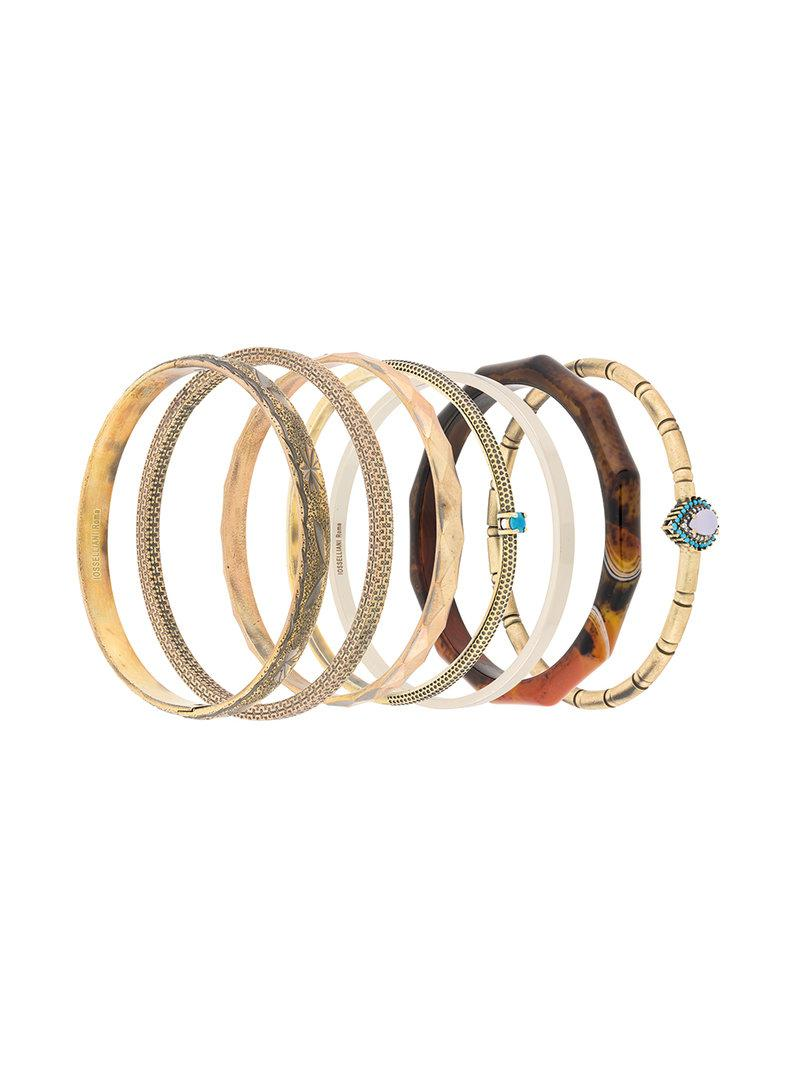 Iosselliani Puro set of three bangles - Grey jh2uwhrt