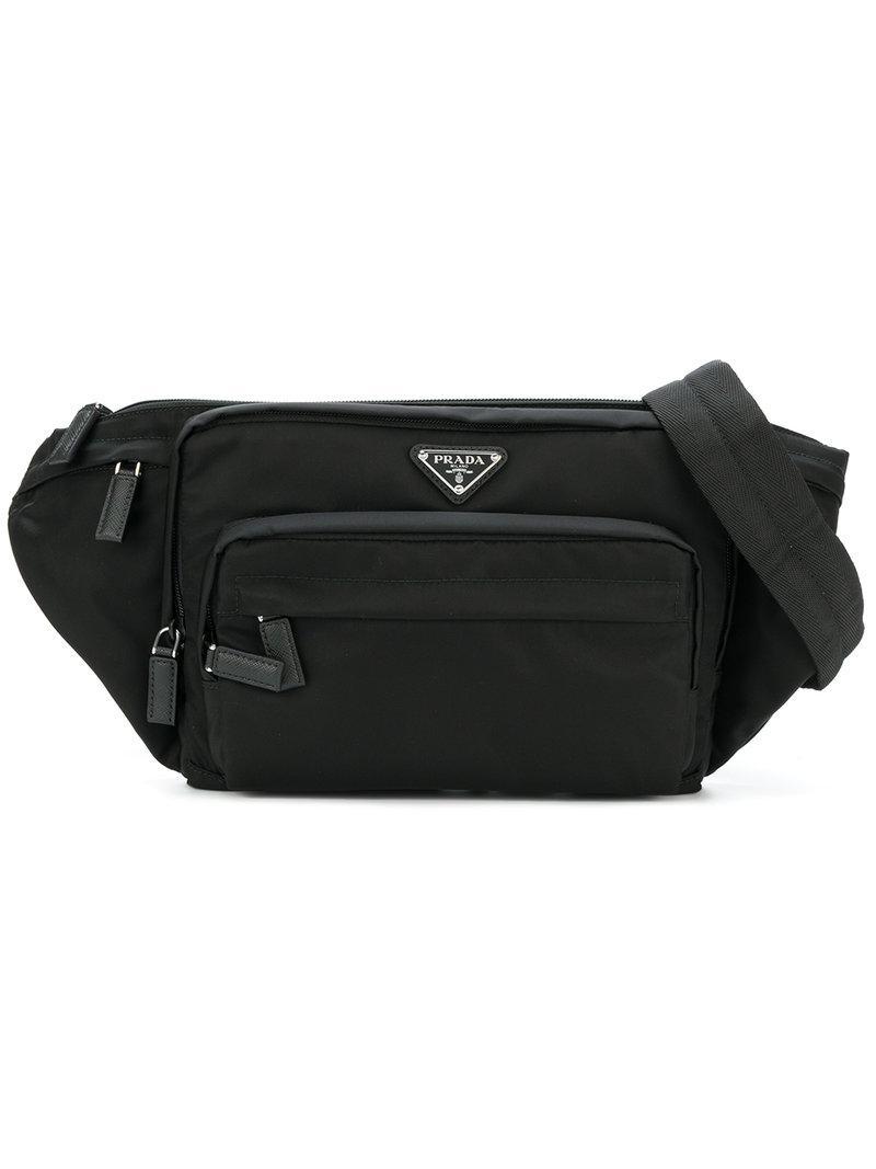 ... sale prada nylon belt bag in black for men lyst f500e 254e7 ... c73e572a4e157