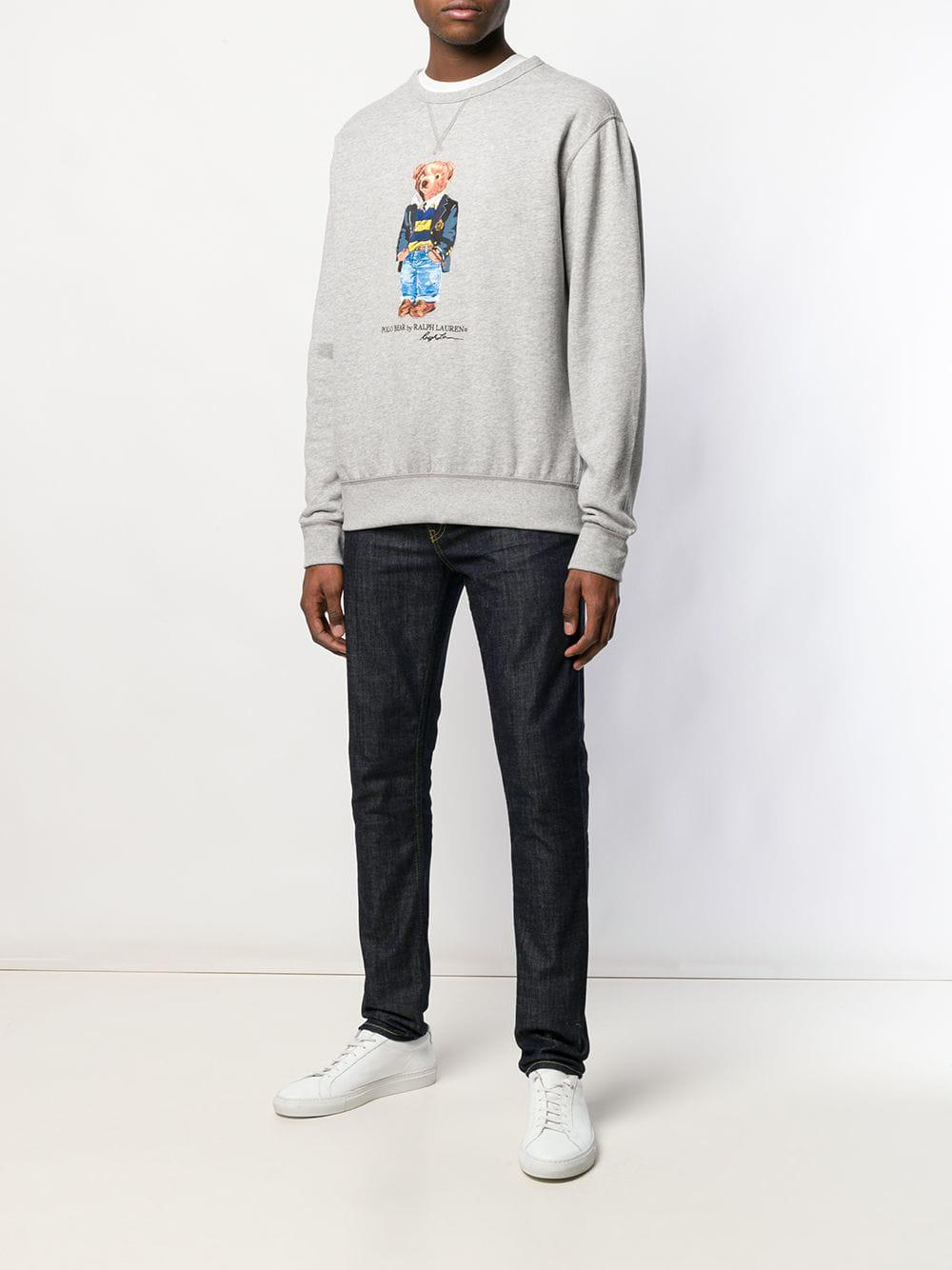 bd82c4575 Polo Ralph Lauren Polo Bear Sweatshirt in Gray for Men - Save 35% - Lyst