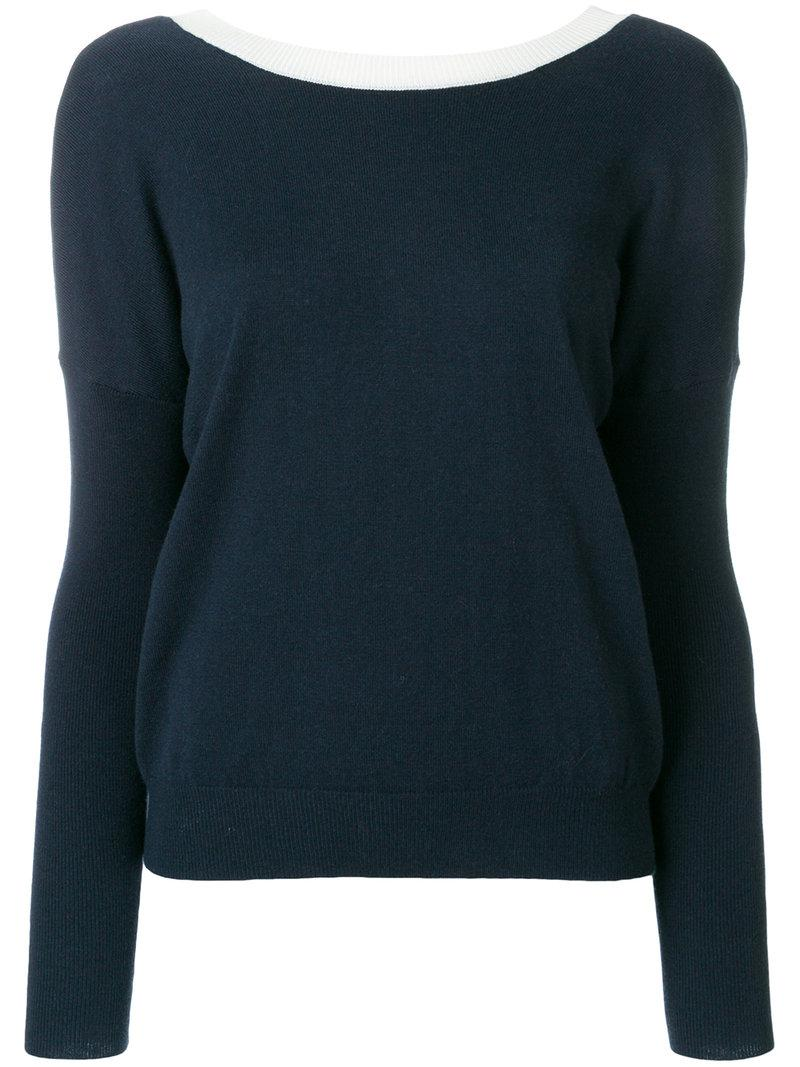 Essentiel Antwerp contrast-collar sweater Visit New For Sale Latest Cheap Price wJbdMHOs