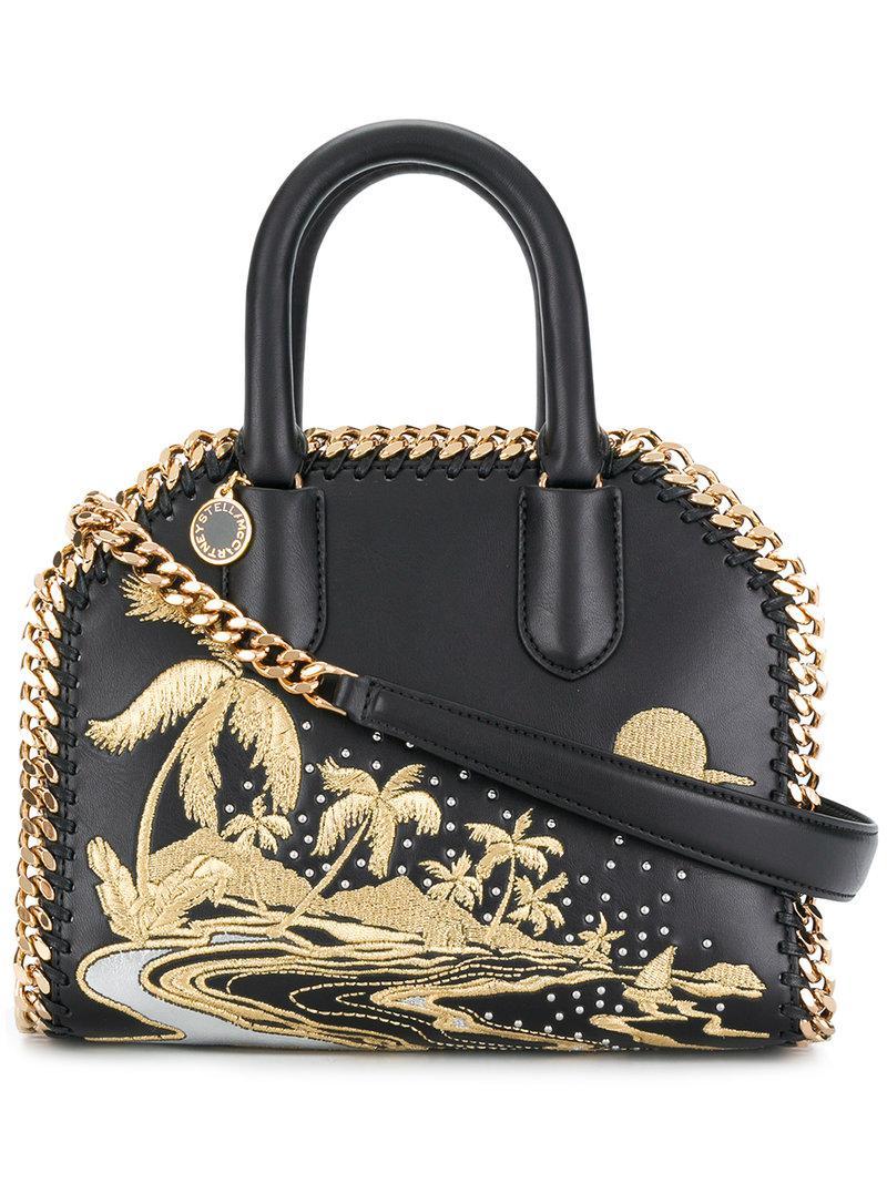 Stella McCartney Falabella embroidered box tote Choice Online NjLZWjX1