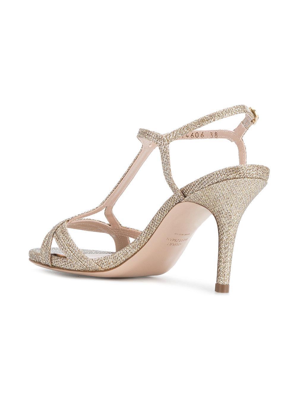 Sunny sandals - Metallic Stuart Weitzman qTeMnOGb